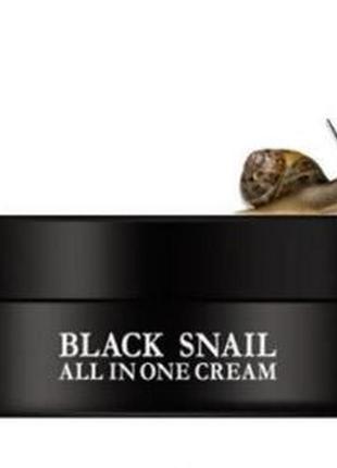 Омолаживающий крем с муцином черной улитки eyenlip black snail...