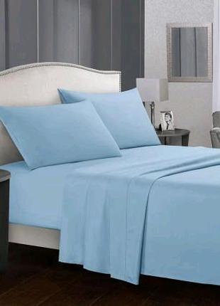 Однотонный комплект постельного белья из плотного сатина
