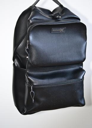 Рюкзак для міста чоловічий / городской черный мужской экокожа