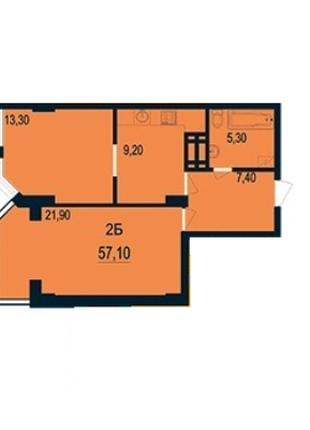 В  продаже 2-х комнатная квартира с панорамным остеклением