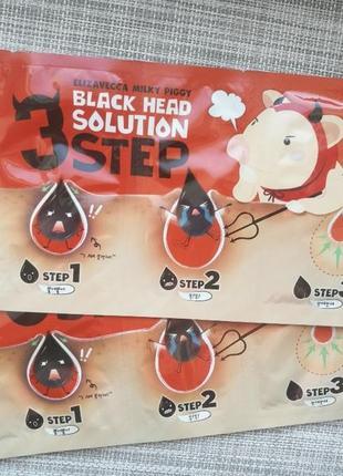 Очищающая маска elizavecca milky piggy black head solution 3 step