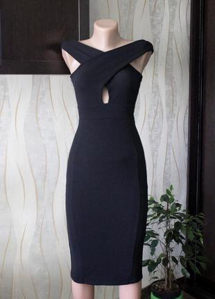 Красивое платье миди по фигуре от signature