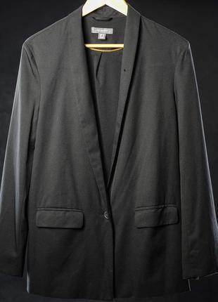 Женский черный мягкий пиджак жакет блейзер primark.