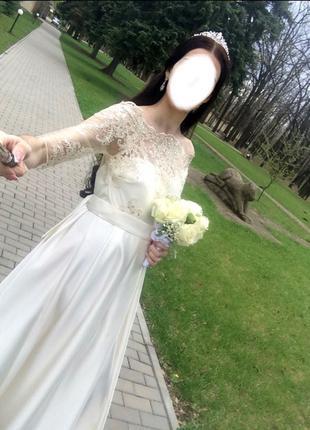 Платье длинное вечернее выпускное с поясом