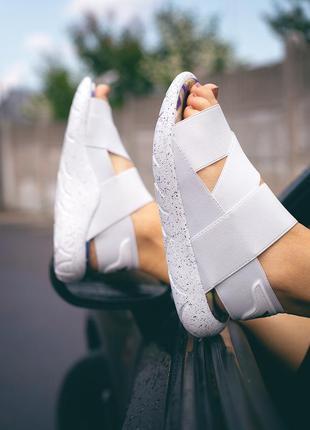 Женские белые босоножки adidas sandal y-3 yohji yamamoto