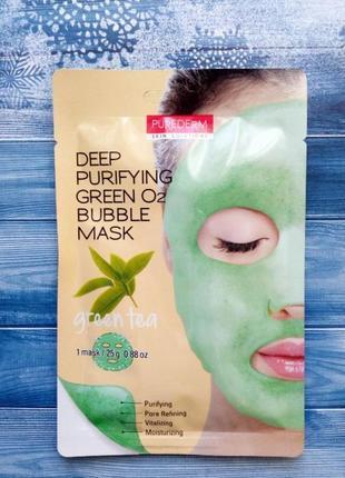 Очищающая кислородная маска purederm deep purifying o2 bubble ...