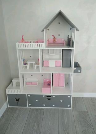 Кукольный домик, домик для кукол барби, детский домик