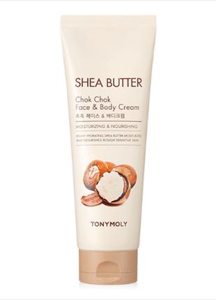 Крем с маслом ши для лица и тела tony moly shea butter chok ch...