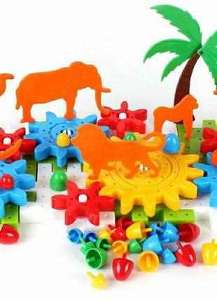 Конструктор с шестернями и животными