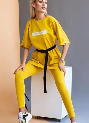Спортивный костюм, женский спортивный костюм, лосины +футболка...