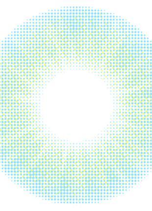 Контактные цветные линзы (голубые) EYELOFER Aurora BLUE