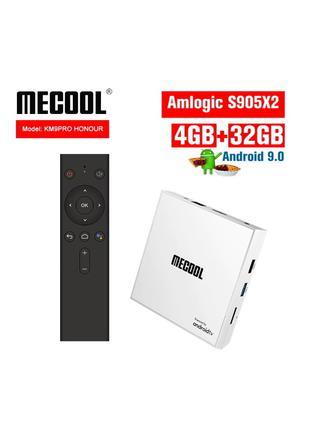 Mecool KM9 PRO Honour 4/32Gb tv box смарт тв приставка Mi box s