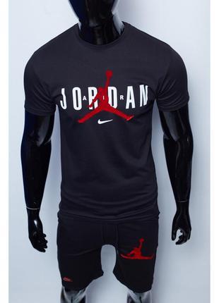 Костюм футболка с шортами мужской nike x jordan черный в ст
