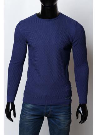 Свитер мужской amato  синий в стиле бренда