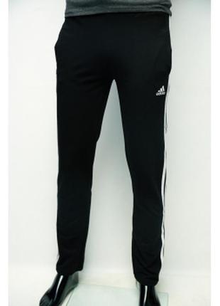 Спортивные штаны мужские трикотаж черные в стиле бренда