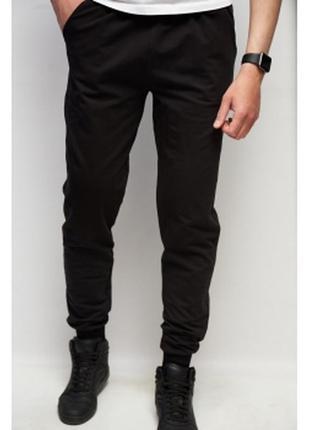 Спортивные штаны мужские pm  черные в стиле бренда