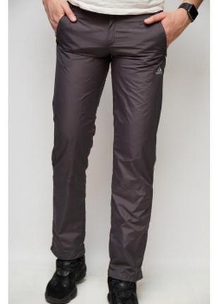 Спортивные штаны мужские adidas  плащевка серые в стиле бренда