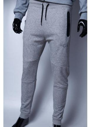 Спортивные штаны мужские трикотажные манжет gs светло серые в ...