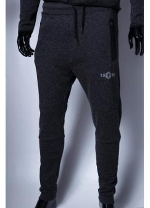 Спортивные штаны мужские трикотажные gs  серые в стиле бренда