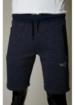 Шорты мужские трикотажные gs  синие в стиле бренда