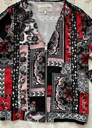 Бомбер жакет куртка river island в цветочно-абстрактный принт