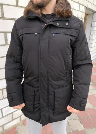 Зимняя куртка на пуху мужская