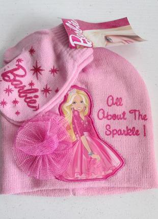 Комплект шапка перчатки kmart barbie оригинал сша америка