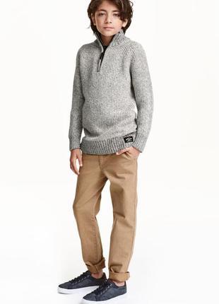 Приталенные брюки чинос h&m slim fit chinos оригинал европа шв...