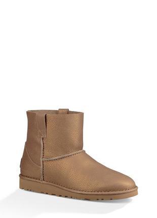 Ботинки полусапожки угги кожаные ugg classic unlined mini авст...