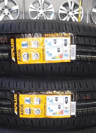 Новые летние шины 2 шт 205/65r15 Aplus A606