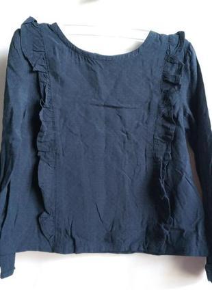Блуза с рюшами на девочку вискоза французского бренда kiabi ев...
