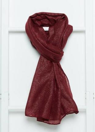 Большой шарф палантин с люрексом французского бренда kiabi , о...