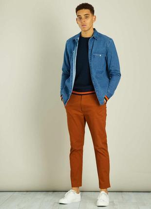 Чистый хлопок облегающие мужские брюки чинос от kiabi, оригина...