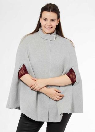 Женское манто пальто батал шерсть французского бренда kiabi  о...
