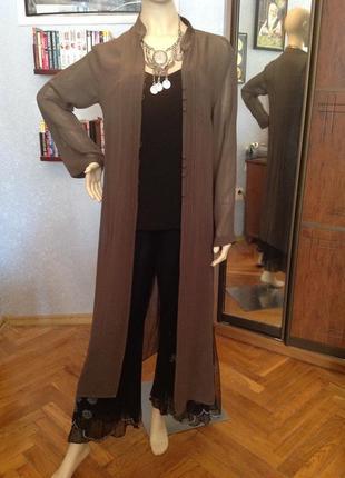 Натуральный, воздушный кардиган (рубашка, накидка) в этно -сти...