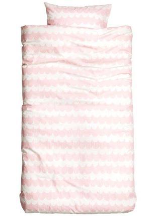 Детский полуторный комплект постельного белья150х200 50х60 h&m...