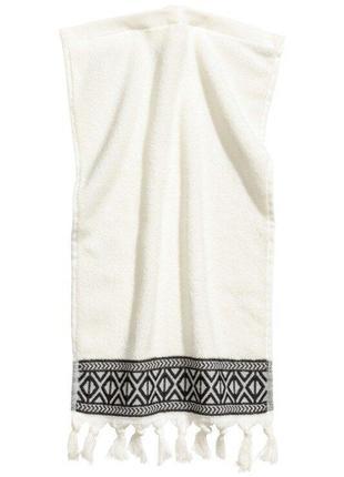 Гостевое махровое полотенце с вышивкой 30х50 h&m оригинал евро...