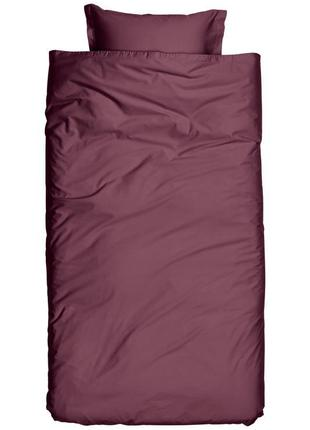Премиум односпальное постельное белье атлас 140х200 50х70 h&m ...