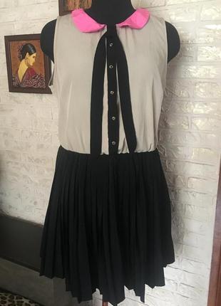 Платье с юбкой плиссированное гофре #розвантажуюсь