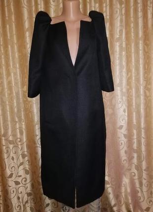 ✨✨✨черный женский длинный тренч, кардиган, пальто рукав 3\4 l....