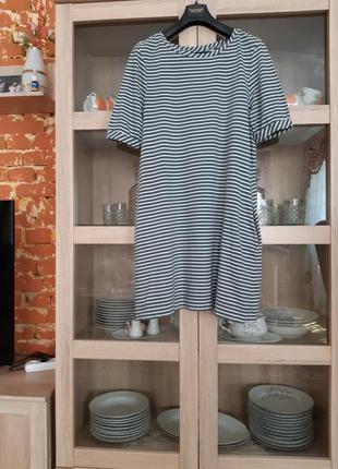 Стильное котоновое платье большого размера