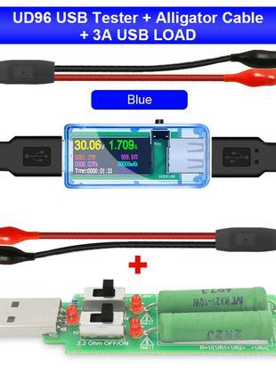 USB тестер многофункциональный цветной экран
