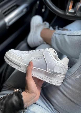 Nike air force type white ✰ женские кожаные кроссовки ✰ белого...