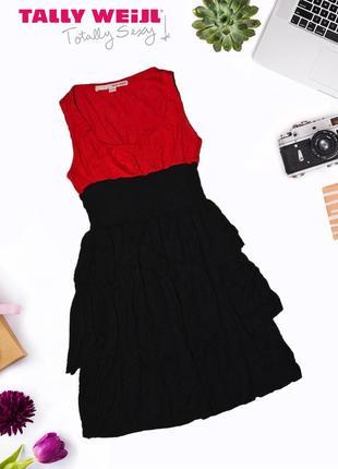 Многоярусное приталенное платье tally weijl