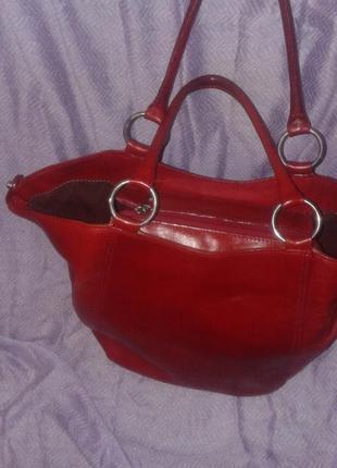Шикарная сумка из мясистой натуральной кожи