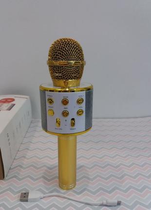Микрофон WS-858 Подключение к любому смартфону по Bluetooth