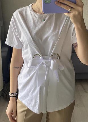 Хлопковая футболка с люверсами asos