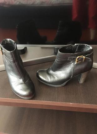 Полусапожки на удобном каблуке, 38 размер