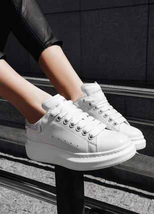 Восхитительные кроссовки a.mcqueen натуральная кожа качество л...