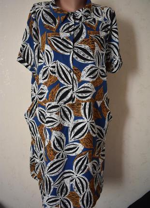 Легкое платье с принтом большого размера